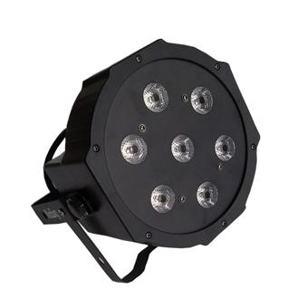 Par 56 LED Slim Flat RGBW 7x12W black
