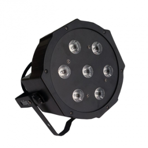 Par 56 LED Slim Flat RGBW 7x12W black